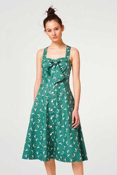 edc - Rozkloszowana wzorzysta sukienka ze 100% bawełny w naszym sklepie internetowym
