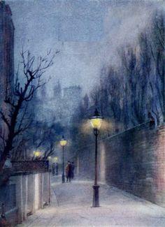 Thistle Grove London, near Fulham Road. Yushio Markino. A Japanese artist in London (1912)