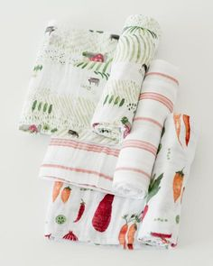 'well is these are not the cutest things you have ever seen! Cotton Swaddle Set - Farmers Market