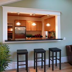 If you need to open up a kitchen in an old house, a cut through would be a great option.
