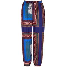 Mela Loves London Scarf Print Trousers ($34) ❤ liked on Polyvore