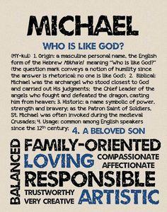 MICHAEL Personalized Name Print / Typography Print by OhBabyNames
