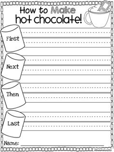 "Who doesn't love hot chocolate? Your students will love using their senses about this sweet treat and creating their ""How To Make Hot Chocolate"" craftivity! #hotchocolate"