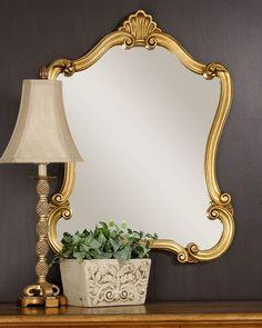 Walton Hall Gold Mirror