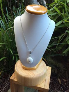 Sea urchin porcelain necklace by simonesceramics on Etsy