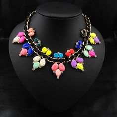 Check out this Fascinating and Colorful #Acrylic #Necklace for any outfit.