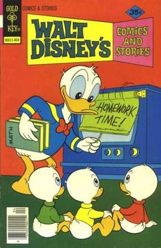 Donald Duck - Gold Key - Math Books - Homework Time - Comics And Stories