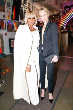 Mary J. Blige and Amber Valletta