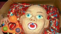 14.) Oh, good. A horror baby cake.