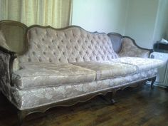 Check out this item in my Etsy shop https://www.etsy.com/listing/204646908/vintage-mid-century-tufted-rose-sofa