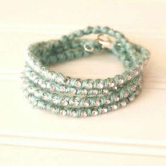 Make your own sparkle wrap bracelet with this easy tutorial.