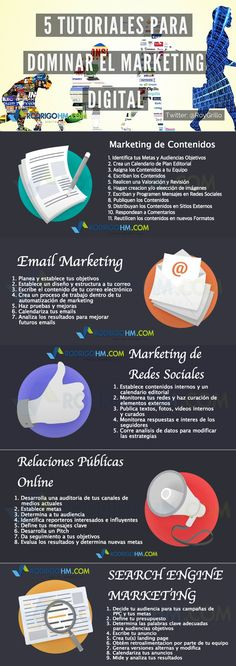 5 tutoriales para dominar el Marketing Online #infografia #infographic #marketing