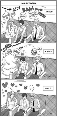 Hetalia- America, Japan, and England watch some movies together. XD