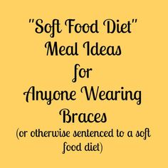 Included on the avoid list gum not included on the avoid list soft food diet meal ideas forumfinder Image collections