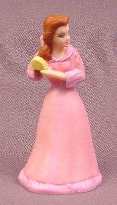 "Disney Beauty & The Beast Belle in Pink Dress Brushing Her Hair PVC Figure, 2 1/2"" tall"