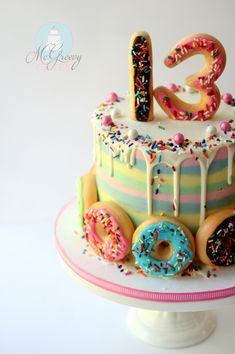 buttercream stripes cakes and doughnuts
