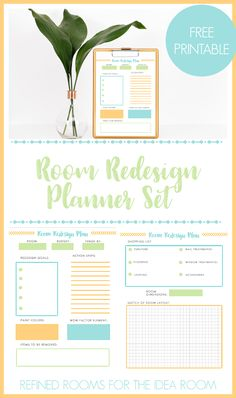 Hey there! I'm SUPER excited that Amy invited me to be a part of the Summer Series here at The Idea Room. I'm Natalie from Refined Rooms, where I love to share ideas, tips and inspiration to help others create an organized and beautiful home. Today I'm sharing a free printable Room Redesign Planner, a …