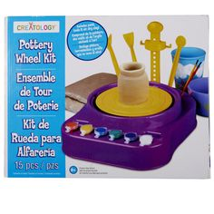 <div>This kit lets your kids create their own unique pottery projects. From bowls and cups to va...