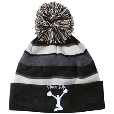Striped Beanie with Pom – Purposely Designed