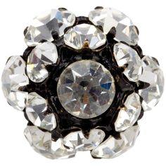 VINTAGE JEWELS crystal ring