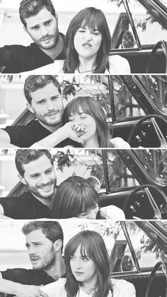 "Jamie Dornan and Dakota Johnson Fifty shades of grey ""Love isn't always black and white """