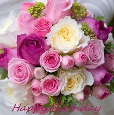 Lush And Fragrant Peonies And Roses To Help Brighten Your Very Happy,Happy Birthday.-Divalousity .