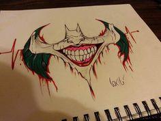 joker easy drawings face drawing pencil sketches simple batman tattoo nerd uploaded user geek