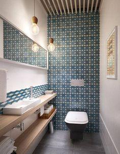 Décorer ses toilettes avec des carreaux de ciment