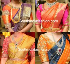 South india fashion latest blouse silk saree blouse designs readymade saree blouses stylish party wear saree blouse designsBlouse Designs For Wedding Sarees South India FashionBlouse Designs For Silk Sarees Fashion … Saree Jacket Designs, Pattu Saree Blouse Designs, Silk Saree Blouse Designs, Bridal Blouse Designs, Golden Blouse Designs, South Indian Blouse Designs, Sari Bluse, Indie Mode, Designer Blouse Patterns
