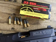 World's weirdest .22 ammo - Aguila SSS Sniper Sub Sonic. Note the extra short case to make room for the 60 grain bullet.