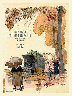 Bazar de l'hôtel de Ville , hiver 1924