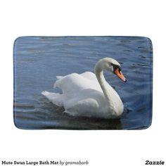 Mute Swan Large Bath Mat Bath Mats #swan