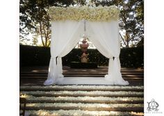 luis and agueda Chuppah, Celebrity Weddings, Orchids, Floral Design, Dream Wedding, Reception, Glamour, Celebrities, Outdoor Decor