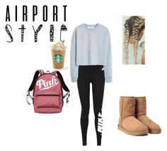 """""""Untitled #104"""" by kcberns ❤ liked on Polyvore featuring NIKE, MANGO, Victoria's Secret and UGG"""
