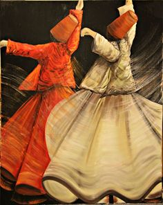 Explore inspirational, thought-provoking and powerful Rumi quotes. Here are the 100 greatest Rumi quotations on life, love, wisdom and transformation. John Kenn, Cultural Dance, Whirling Dervish, Islamic Paintings, Religion, Iranian Art, Turkish Art, Islamic Art Calligraphy, Dance Art