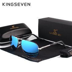 Buy KINGSEVEN Aluminum Magnesium Men s Sunglasses Polarized Men Coating Mirror  Glasses oculos Male Eyewear Accessories For 92e1cfec3e