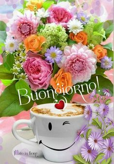 Good Morning Gif, Good Morning Flowers, Special Friend Quotes, Beautiful Flowers, Tableware, Ballon, Barbecue, Drink, Mugs