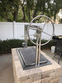 Stainless Santa Maria Countertop Drop In Frame with Height Adjustable Rotisserie by JD Fabrications Wood Charcoal, Charcoal Grill, Santa Maria Grill, Backyard Bbq Pit, Tube Acier, Barbecue Grill, Pit Bbq, Outdoor Barbeque, Outdoor Oven
