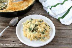Quinoa Spinach Mac and Cheese via @Maria (Two Peas and Their Pod) Love those vegetarian mains.
