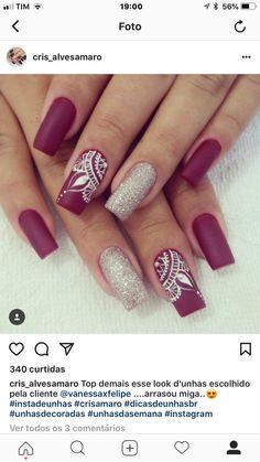 Henna Nail Art, Henna Nails, Bright Nail Designs, Nail Art Designs, Cute Acrylic Nails, Fun Nails, Mandala Nails, Shoe Nails, Pretty Nail Art