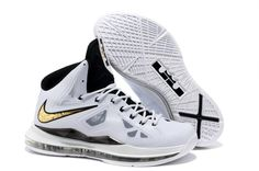 More and More Cheap Shoes Sale Online,Welcome To Buy New Shoes 2013 Lebron  10 White Black Gold Medal [Nike Basketball Shoes - Lebron 10 White Black  Gold ...