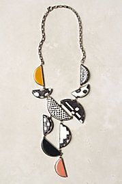 Sliced Geometry Necklace - translate this anthropology necklace in polymer??