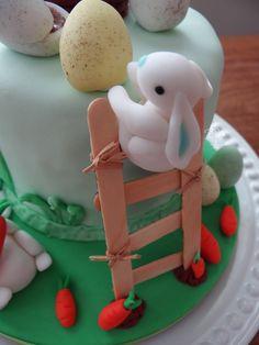 Páscoa - Bolo decorado Coelhinhos