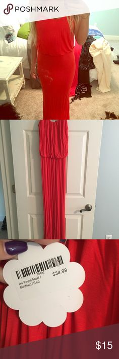 Red Maxi Dress I bought this dress on Hopes Boutique at shophopes.com. I've never worn it and it's such a pretty color! Dresses Maxi