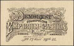 By 1860, Madame Demorest's Emporium of Fashion began advertising her patterns in magazines.