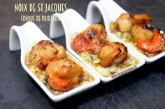 Noix de saint jacques fondue de poireaux