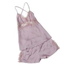 섹시한 여성 여름 잠옷 Pijamas 세트 진짜 실크 잠옷 여성 레이스 캐미솔