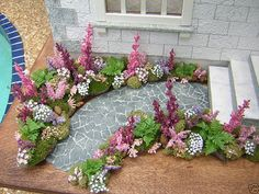 Dollhouses by Robin Carey = great idea for mini garden