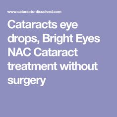 Cataracts Removed Naturally