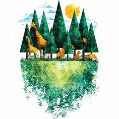 Camiseta 'Geo Forest' - Catalogo Camiseteria.com | Camisetas Camiseteria.com - Estampa, camiseta exclusiva. Faça a sua moda!
